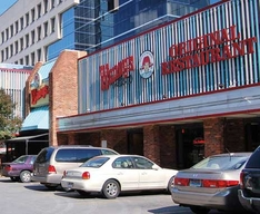 The exterior of the first Wendy's restaurant, opened by Dave Thomas in downtown Columbus, Ohio, in 1969. The location closed on March 2, 2007. FLICKR / JOE ROSS
