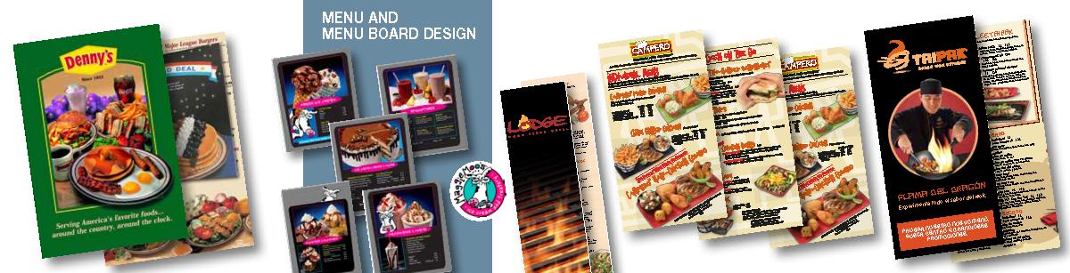 Menu and Menu Board Design