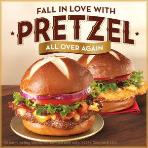 Wendy's Prezel Bacon Cheeseburger
