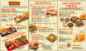 pollo Campero menu board design by Ellish Marketing Group